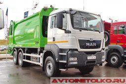 MAN TGS 33.360 6x4 BB-WW мусоровоз GeesinkNorba 22H25P на выставке COMTRANS 2017