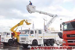 Подъемник Alcoa на шасси КАМАЗ-43118 на выставке COMTRANS 2017