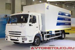 Изотермический фургон ЦТТМ на КАМАЗ-4308 на выставке COMTRANS 2017
