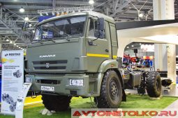 КАМАЗ-43502 с гидропневматической подвеской Ростар на выставке COMTRANS 2017