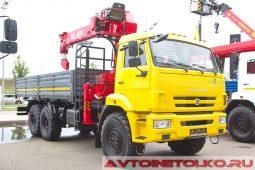 КМУ Megalift ML-805 на шасси КАМАЗ-43118 на выставке COMTRANS 2017