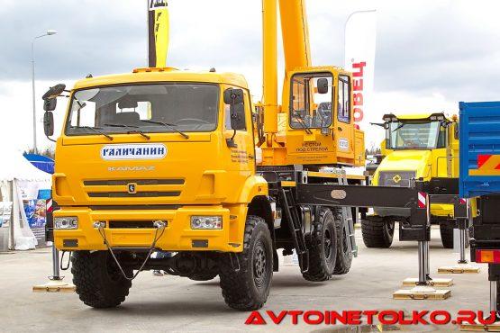 Кран КС-55713-5Л на шасси КАМАЗ-43118 на выставке Демострой 2018