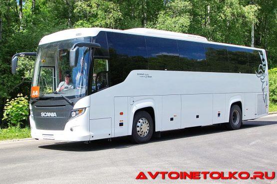 Автобус Scania Touring на презентации в Дмитрове