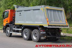 Самосвал Scania P440 B6x6HZ с кузовом Wielton на презентации в Дмитрове