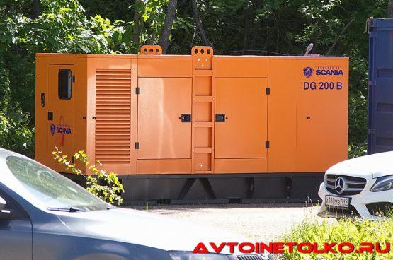 Дизельная электростанция Scania DG200B на презентации в Дмитрове