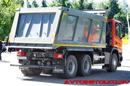 Самосвал Scania P380 B6x4HZ с кузовом Wielton на презентации в Дмитрове