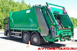 Мусоровоз Zöller Medium XL объемом 22,5 м³ на шасси Scania P380 B6x2х4NA на презентации в Дмитрове
