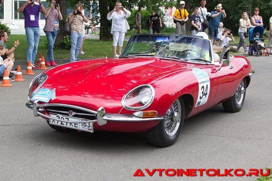 Jaguar E-type 1966 года на ралли Bosch Moskau Klassik 2018
