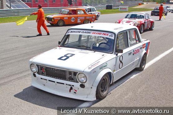 ВАЗ-2101 стартовый номер 8 на Moscow Classic Grand Prix 2018