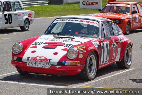 Porsche 911ST стартовый номер 911 на Moscow Classic Grand Prix 2018