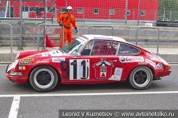 Porsche 911ST стартовый номер 911 на Moscow Classic Grand Prix сезона 2018 года