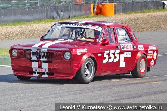 Волга ГАЗ-2410 стартовый номер 555 на Moscow Classic Grand Prix 2018