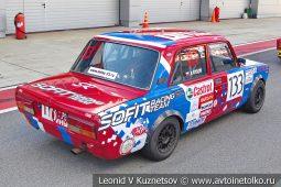 ВАЗ-2107 стартовый номер 133 на Moscow Classic Grand Prix сезона 2018 года