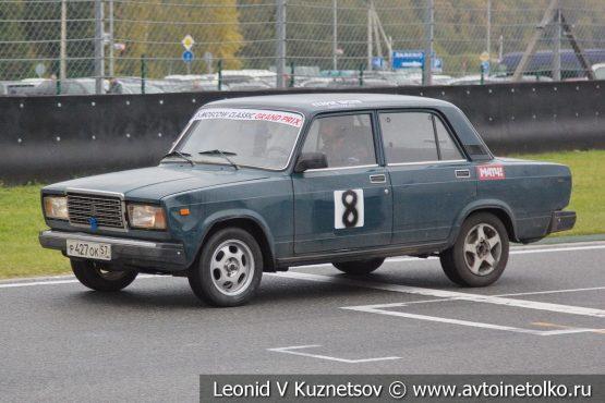 ВАЗ-2107 стартовый номер 8 на Moscow Classic Grand Prix 2018
