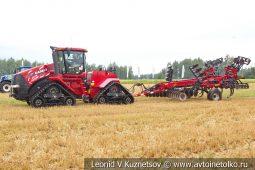 Гусеничный трактор Case IH Quadtrac 500 с глубокорыхлителем Case IH Ecolotiger 875 на Агро Ралли 2019
